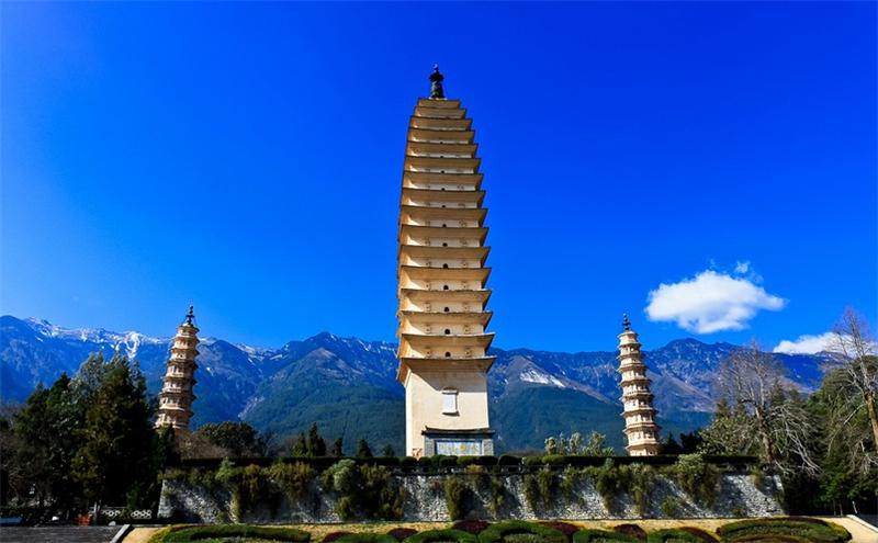 大理崇圣寺三塔-大理旅游攻略-昆明中国国际旅行社